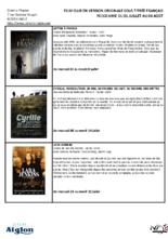 SÉLECTION FILM CLUB EN VERSION ORIGINALE SOUS TITRÉE FRANÇAIS