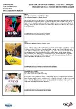 PROGRAMMATION FILM CLUB
