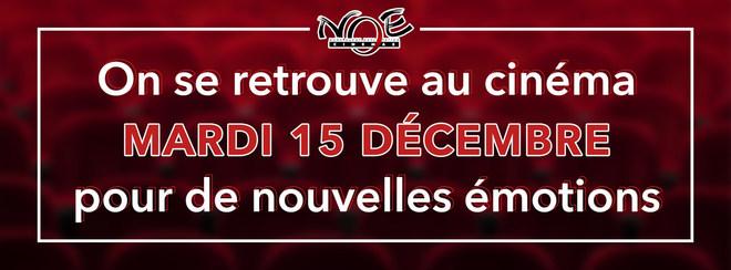 Réouverture du vos cinémas le mardi 15 décembre...