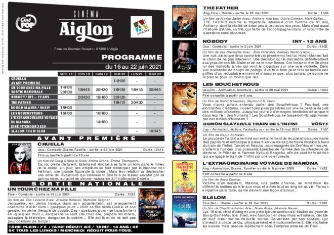 Programme du 16 au 22 juin