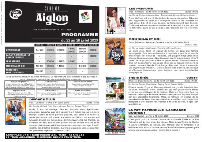 Programme du 24 au 30 juillet