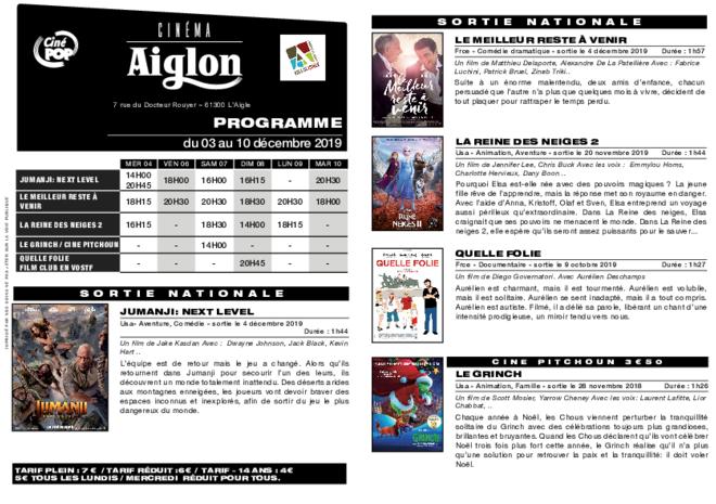 Programme du 05 au 11 décembre